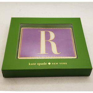"New In Box Kate Spade ""R"" Monogram card holder"
